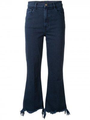 Расклешенные джинсы с эффектом потертости J Brand. Цвет: синий