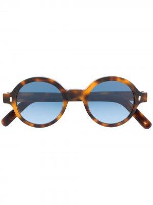 Солнцезащитные очки Reunion в круглой оправе L.G.R. Цвет: коричневый