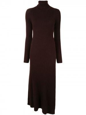 Платье Emmy в рубчик A.L.C.. Цвет: коричневый