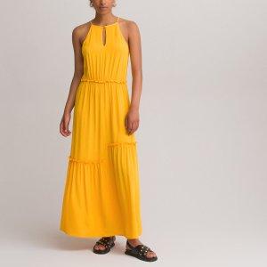 Платье-макси LaRedoute. Цвет: желтый