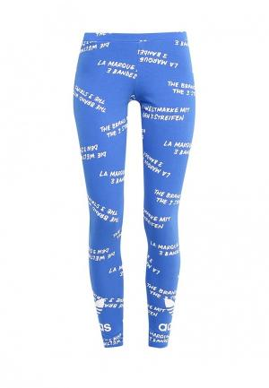 Леггинсы adidas Originals TREFOIL LEGGING. Цвет: синий
