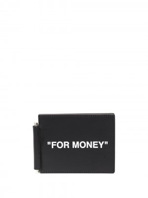 Кошелек с принтом For Money Off-White. Цвет: 1001 черный белый