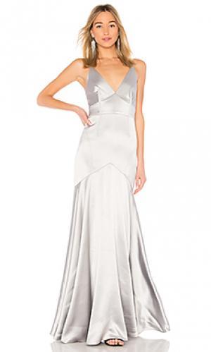 Вечернее платье JILL STUART. Цвет: металлический серебряный