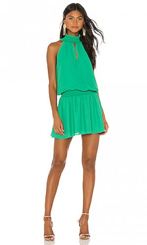 Мини платье kimmie Amanda Uprichard. Цвет: зеленый
