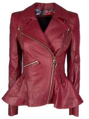 Кожаная куртка с баской Elegant PHILIPP PLEIN