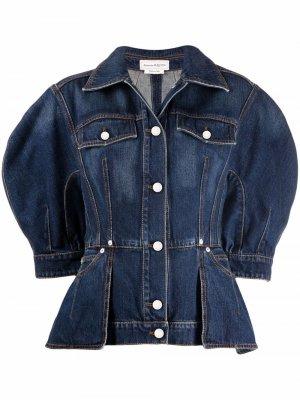 Structured denim jacket Alexander McQueen. Цвет: синий