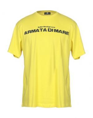 Футболка ARMATA DI MARE. Цвет: желтый