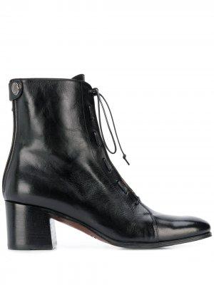 Ботильоны на шнуровке Alberto Fasciani. Цвет: черный