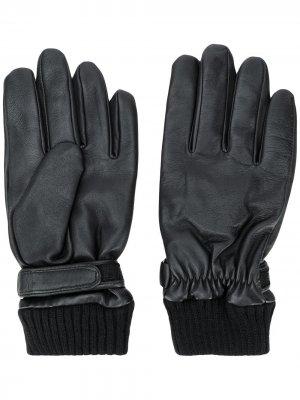 Перчатки с тиснением Karl Lagerfeld. Цвет: черный