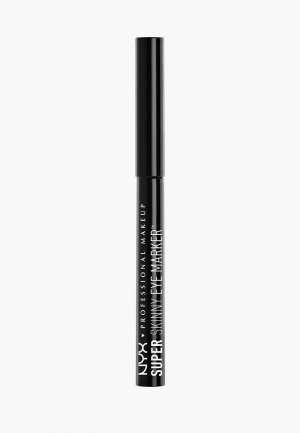 Подводка для глаз Nyx Professional Makeup Super Skinny Eye Marker, оттенок 01, Carbon Black, 1,1 мл. Цвет: черный