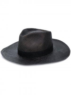 Плетеная шляпа-федора Super Duper Hats. Цвет: серый