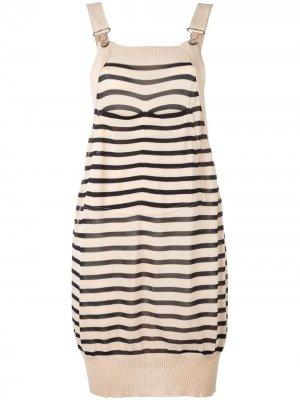 Вязаное платье Sailor Jean Paul Gaultier Pre-Owned. Цвет: нейтральные цвета
