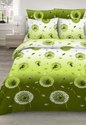 Постельное белье Евро Василиса. Цвет: зеленый