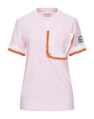 Футболка AU JOUR LE. Цвет: розовый