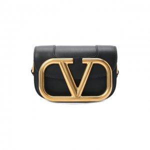 Сумка Garavani SuperVee Valentino. Цвет: чёрный