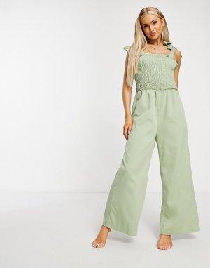 Пляжный комбинезон Cecily -Зеленый Fashion Union
