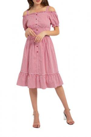 Платье Apart. Цвет: красный, кремовый