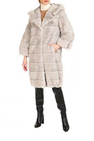 Fur coat Manakas. Цвет: light gray