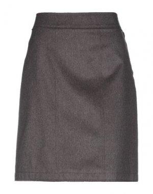 Юбка до колена CAPPELLINI by PESERICO. Цвет: темно-коричневый