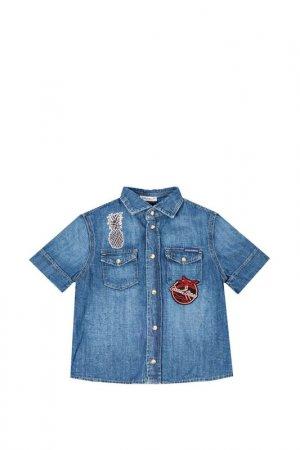 Рубашка DOLCE & GABBANA. Цвет: голубой