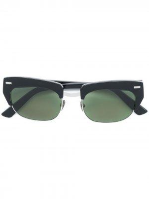 Солнцезащитные очки в полуоправе Acne Studios. Цвет: черный
