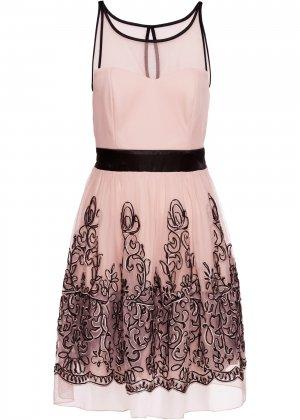 Коктейльное платье bonprix. Цвет: розовый