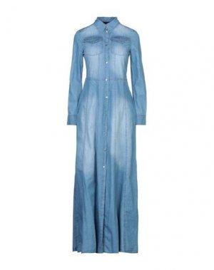 Длинное платье KAOS JEANS. Цвет: синий