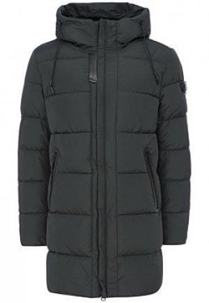 Стеганая куртка с отделкой экокожей Clasna