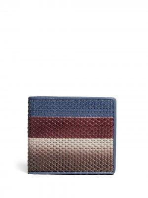 Плетеный бумажник Ermenegildo Zegna. Цвет: синий