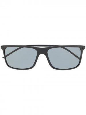 Солнцезащитные очки в квадратной оправе Giorgio Armani. Цвет: черный