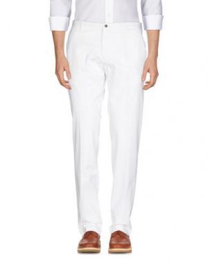 Повседневные брюки HYDRO by ANGELO NARDELLI. Цвет: белый