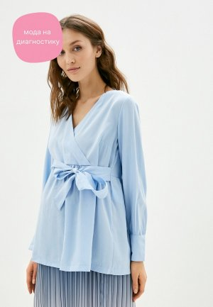 Блуза Mamalicious. Цвет: голубой