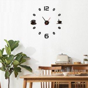 Настенные часы кофейный с зеркальной поверхностью SHEIN. Цвет: чёрный