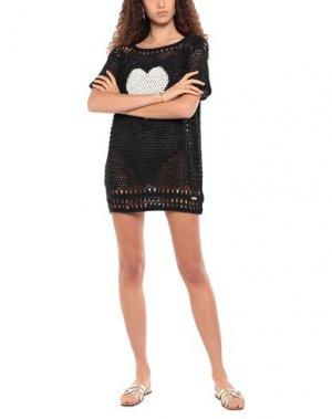 Пляжное платье TWINSET. Цвет: черный