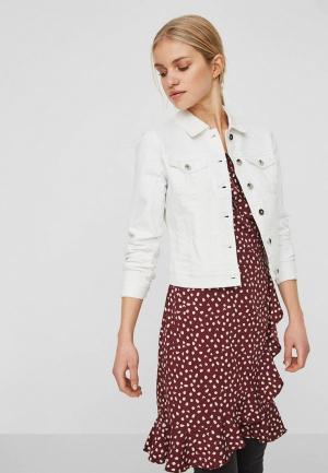 Куртка джинсовая Vero Moda. Цвет: белый