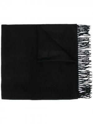 Кашемировый шарф с бахромой Begg & Co. Цвет: черный