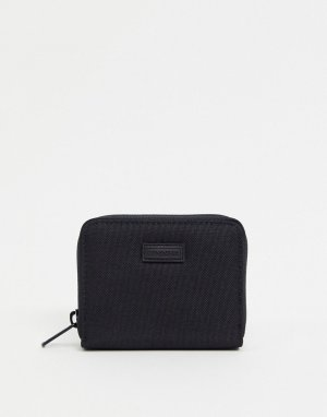 Бумажник с молнией по периметру -Черный цвет Consigned