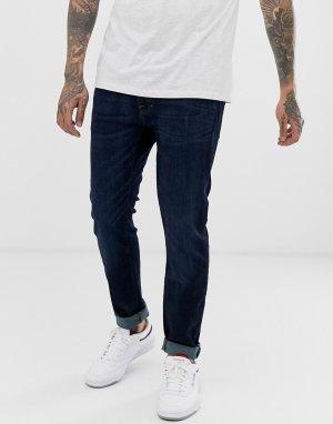 Темные зауженные джинсы стретч -Синий Abercrombie & Fitch