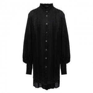 Блузка из вискозы и шелка Ann Demeulemeester. Цвет: чёрный