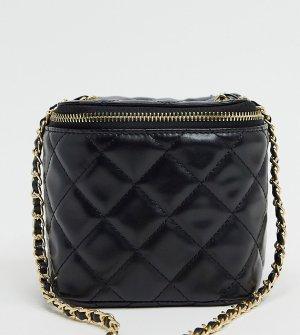 Эксклюзивная черная стеганая сумка через плечо с цепочкой -Черный цвет Glamorous