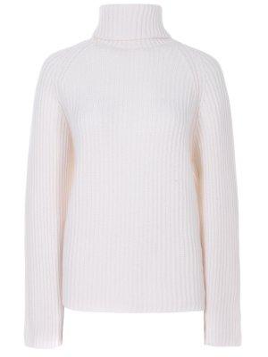 Кашемировый свитер Antonio Berardi. Цвет: белый