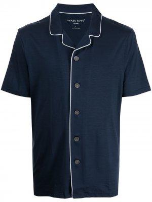 Пижама с контрастной отделкой Derek Rose. Цвет: синий