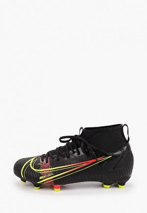 Бутсы Nike JR SUPERFLY 8 ACADEMY FG/MG. Цвет: черный