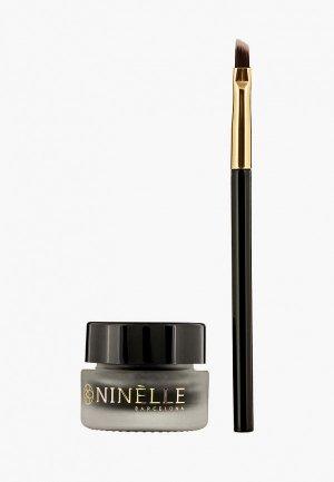 Подводка для глаз Ninelle устойчивая гелевая ENERGIA GEL №411 черный, 3 мл. Цвет: черный