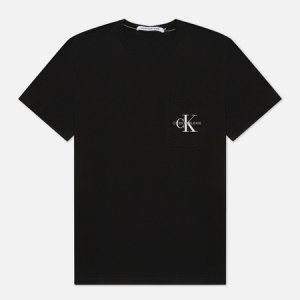Мужская футболка Monogram Embroidery Pocket Calvin Klein Jeans. Цвет: чёрный