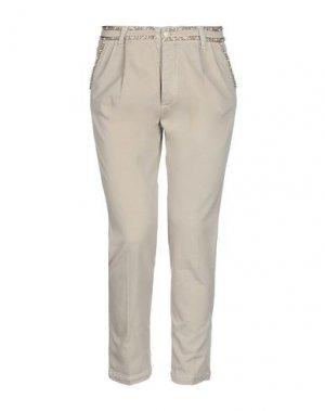 Повседневные брюки FEMME by MICHELE ROSSI. Цвет: бежевый