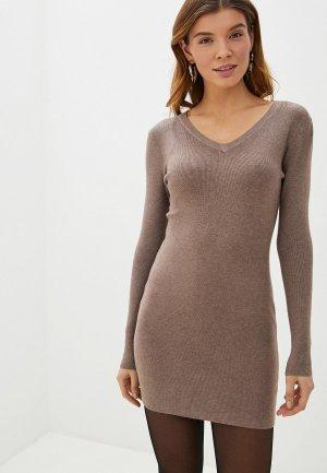 Платье Блисс. Цвет: бежевый