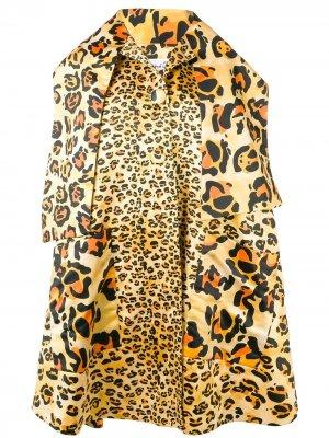 Пальто оверсайз с леопардовым принтом Richard Quinn