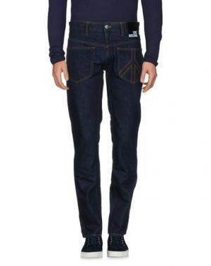 Джинсовые брюки LOVE MOSCHINO. Цвет: синий