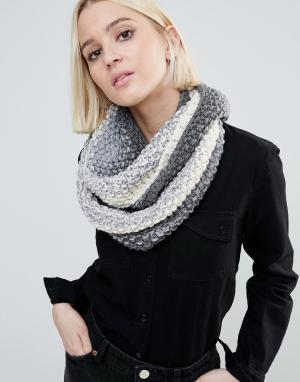 Вязаный шарф с эффектом омбре (кремовый / серый) Genie by Dakota Eugenia Kim